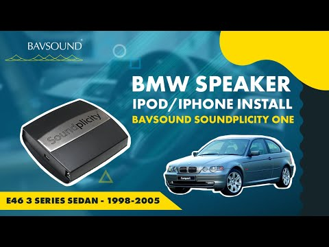BASIC - Soundplicity - iPod/iPhone Install - BMW E46 3 Series Sedan - '98-05