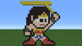 getlinkyoutube.com-Minecraft Tutorial: How To Make Wonder Woman (8-Bit)