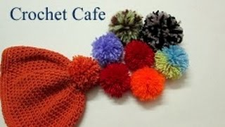 getlinkyoutube.com-طريقة عمل كرة البومبون او كرة الصوف بأسهل الطرق وكيفية تثبيتها| #كروشيه كافيه#