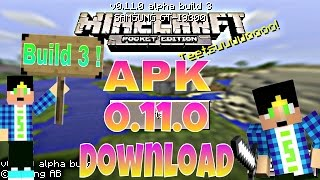 getlinkyoutube.com-Minecraft Pocket Edition 0.11.0 alpha Buid 3 - Download APK