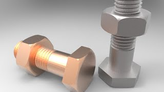 getlinkyoutube.com-3D modelling of metric M8 nut and bolt using AutoCAD