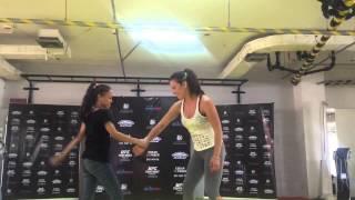 Miesha Tate teaches women self-defense techniques