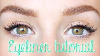 getlinkyoutube.com-Snelle, makkelijke, strakke winged eyeliner tutorial