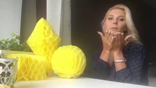 getlinkyoutube.com-Бумажный шар / кристалл (Шары-соты.. Бумажный декор из тишью) Paper decor