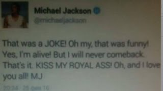 SHOCK! MICHAEL JACKSON IS 100% ALIVE 2016