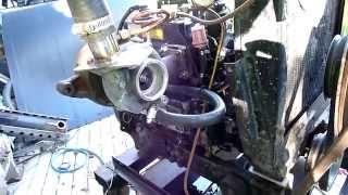 getlinkyoutube.com-Yanmar 3cyl TURBO diesel test run