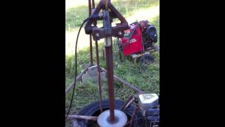 getlinkyoutube.com-home built water well drilling rig