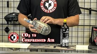 What is the difference between CO2 and Compressed Air Lone Wolf Paintball Michigan