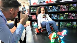getlinkyoutube.com-HOVERBOARD VS KART VS SCOOTER? Family Fun Games - Surprise Toys For Kids   Toys AndMe