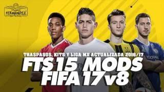 getlinkyoutube.com-FTS 15 MODS FIFA17v9 LIGA MX ACTUALIZADA KITS Y PLANTILLAS 2016/17