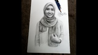 getlinkyoutube.com-drawing realistic woman face with pencil / cara menggambar wajah wanita