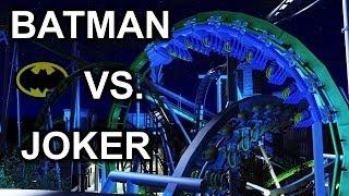 RCT3 Batman VS Joker - Dueling B&M coasters HD
