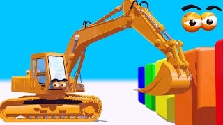 getlinkyoutube.com-VIDS for KIDS in 3d (HD) - Learn Colors with Digger Henry - AApV