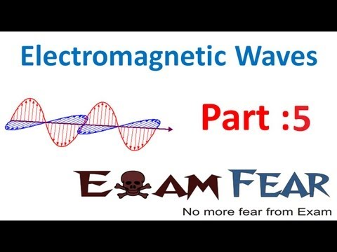 Physics Electromagnetic Waves part 5 (Electromagnetic waves) CBSE class 12