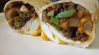 Big Country Breakfast Burrito - Breakfast Burrito Recipe