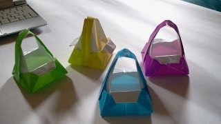 getlinkyoutube.com-Origami bag (Origami)