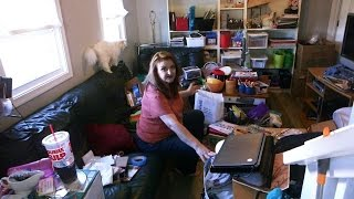getlinkyoutube.com-Woman Accused Of Being A Hoarder Gives Tour Of Her House