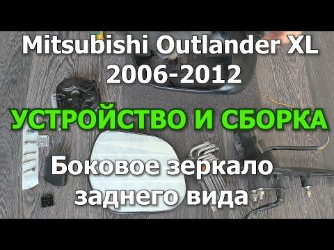 Outlander XL Боковое зеркало заднего вида. Сборка и устройство.