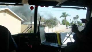 getlinkyoutube.com-Phoenix Fire Department Engine25 House Fire May 2008.wmv
