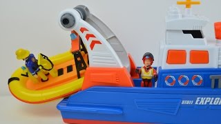 getlinkyoutube.com-NEW Fireman Sam Rescue Boat Break Down Feuerwehrmann Sam brandweerman sam