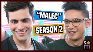getlinkyoutube.com-Matthew Daddario & Harry Shum Jr Talk Malec & SHADOWHUNTERS Training | Teen Choice 2016 Interview