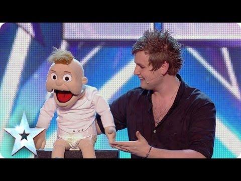 Ventriloquist Sam Jones impresses the Judges with Baby Leo | Britain's Got Talent 2014