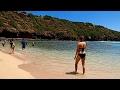 Walking Along Beautiful Hanauma Bay Beach with HD Wide Angle Camera, Honolulu, Oahu, Hawaii