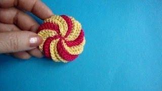 getlinkyoutube.com-Спиральный элемент Вязание крючком Урок302 Crochet spiral