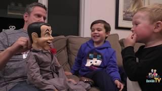 getlinkyoutube.com-Slappy invades DavidsTV - Slappy Doll - Goosebumps - Slappy Ventriloquist Doll