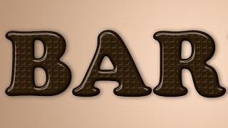 Texto de Chocolate no photoshop