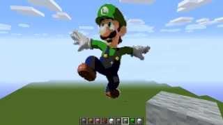 getlinkyoutube.com-Minecraft Luigi Pixel Art