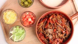 getlinkyoutube.com-Crock Pot Beef Fajitas Recipe - Laura Vitale - Laura in the Kitchen Episode 877