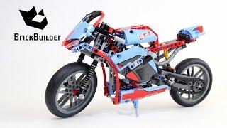 getlinkyoutube.com-Lego Technic 42036 Street Motorcycle - Lego Speed build