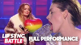 Anne Hathaway's Wrecking Ball vs. Emily Blunt's Piece of My Heart | Lip Sync Battle