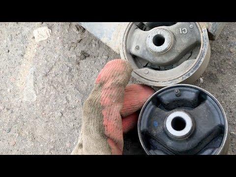 Замена задней подушки двигателя на Mitsubishi Lancer X