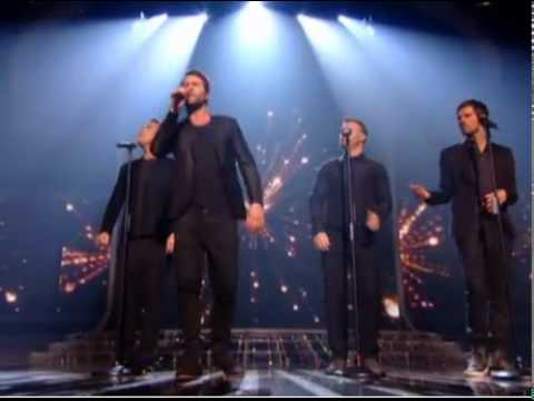 Matt Cardle, Rebecca and One Direction singing with Take That Never Forget X Factor Final