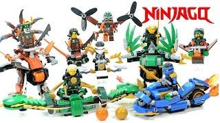 getlinkyoutube.com-Ninjago Super Glider & Power Cycle V Sky Pirate Battle Mech Models & Jet Pack Unofficial LEGO Set