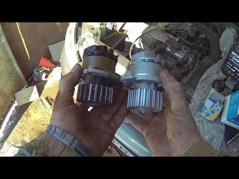 2.Установка помпы на двигатель Лада Калина
