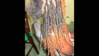 getlinkyoutube.com-PROFESSIONAL 100% human hair loc extensions NO GLUE