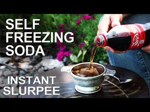 Self Freezing Coca-Cola(The trick that works on any soda!)