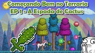 getlinkyoutube.com-Começando bem no Terraria - A Espada de Cactus [EP 1] Pt Br