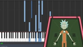 getlinkyoutube.com-Hurt - Nine Inch Nails - Rick and Morty Ending [Piano Tutorial] (Synthesia)