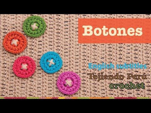 Mini tutorial #2: botones tejidos a crochet