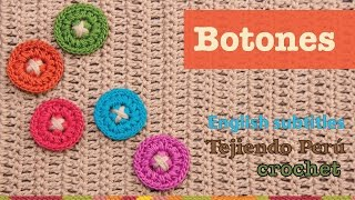 getlinkyoutube.com-Mini tutorial # 2: botones tejidos a crochet /  English subtitles: crochet buttons
