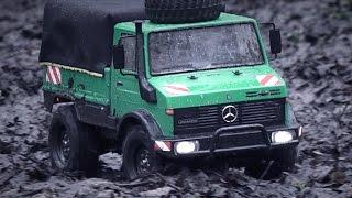 getlinkyoutube.com-Tamiya CC-01 UNIMOG 425 on a Wet'n'Filthy Mission
