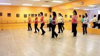 getlinkyoutube.com-Burning Blue - Line Dance (Dance & Teach in English & 中文)