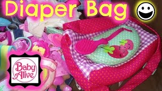 getlinkyoutube.com-What's in Our Baby Alive Diaper Bag!? *Requested*