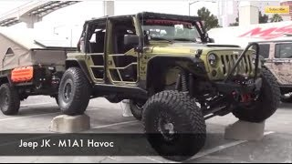 "getlinkyoutube.com-Jeep JK ""M1A1 Havoc"" :SEMA 2013"