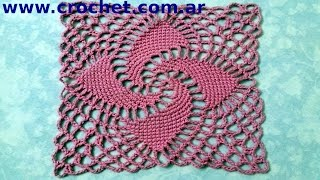 getlinkyoutube.com-Motivo N° 8 en tejido crochet tutorial paso a paso.