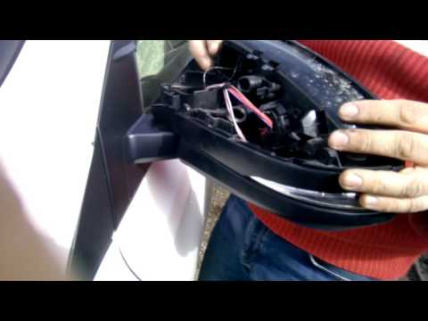 Снятие зеркального элемента RAV4 2012-